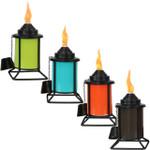 Sunnydaze Multi-Color Outdoor Tabletop Metal Torches, Set of 4