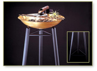 """Water Fountain Metal Stand - 34"""""""