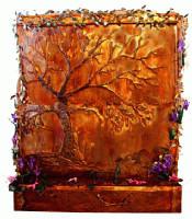Golden Oak Wall Fountain