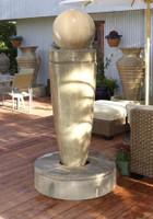 Drum Garden Fountain by Gist Decor