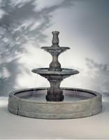 Small Contemporary Cast Stone Tiered in Valencia Fountain by Henri Studio