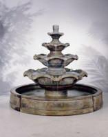Henri Studio Cast Stone Quattro Tier In Valencia Fountain