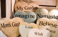 Engraved Garden Stone Hearts