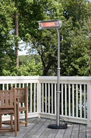 Mohave Stainless Steel Telescoping Offset Pole Mounted Infrared Patio Heater