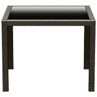 Miami Resin Wickerlook Square Dining Table