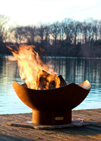 Manta Ray Wood Burning Fire Pit by Fire Pit Art