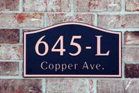 Address Plaque-Model 645