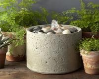 Pebble Cast Stone Table Fountain by Campania International