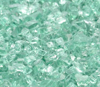 """1/4"""" Emerald Green Fire Glass"""
