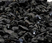 Jet Black Recycled Fire Glass