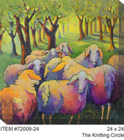 The Knitting Circle Canvas Wall Art