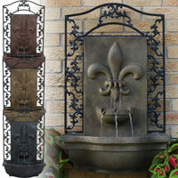 French Lily Solar Outdoor Wall Fountain, Color Options