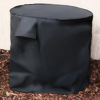 Black Air Conditioner Cover