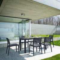 Ares Resin Rectangle Dining Set