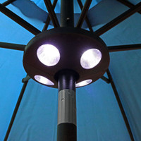 Sunnydaze 4-Panel Patio Umbrella LED Light
