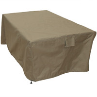 Sunnydaze Square Protective Outdoor Patio Dining Table Cover, Weather Resistant, Khaki
