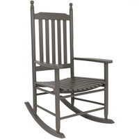 Wooden Rocking Chair, Gray