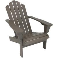 Wood Outdoor Adirondack Chair, Gray