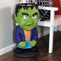 Frankenstein Halloween Large Statue with Built-In Candy Bowl, Indoors