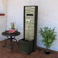 Cascading Ledgestone Outdoor Water Fountain