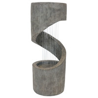 Showering Spiral Contemporary Water Fountain