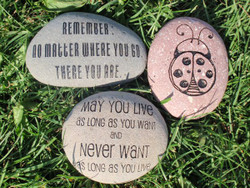 "Engraved 3-4"" Personal Stone"