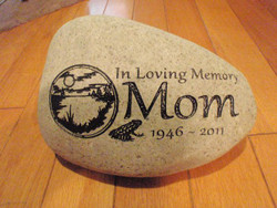 Custom Engraved Medium Garden Stone - 7-9""