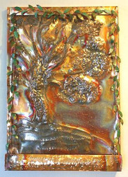 Will-O-Wisp - Sculpted Copper Wall Fountain