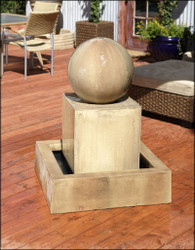 Block Fountain with Ball