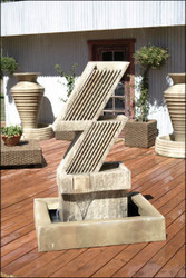 Zig Zag Outdoor Fountain