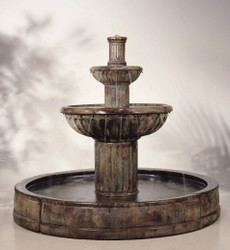 Cast Stone Fluted in Valencia Fountain by Henri Studio
