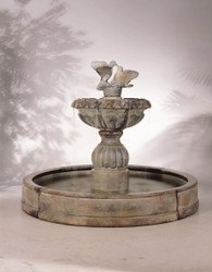 Paloma Cascada in Valencia Cast Stone Fountain by Henri Studio