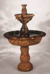 Small Tazza Cast Stone Tiered Fountain by Henri Studio