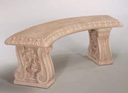 Grapeleaf Curved Bench
