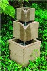 Cube Stone Outdoor Garden Fountain