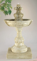 Charming Cast Stone French Fleur de Lys Fountain by Henri Studio
