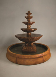 Henri Studio Cast Stone Spheres Fountain in Crested Pool