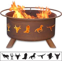 Western Cowboy Fire Pit