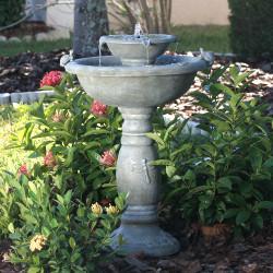 Smart Solar Country Gardens 2-Tier Solar-on-Demand Fountain