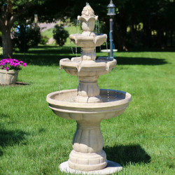 Three-Tier Outdoor Water Fountain