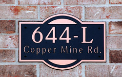 Address Plaque-Model 644