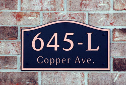 Address Plaque-Model 645
