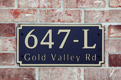 Address Plaque-Model 647