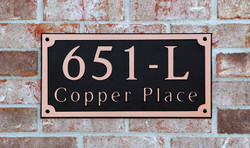 Address Plaque-Model 651