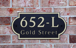 Address Plaque-Model 652