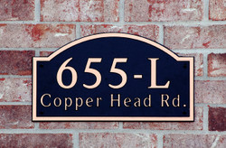 Address Plaque-Model 655