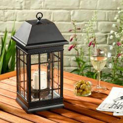 Smart Solar San Rafael II Solar Candle Pillar Lantern