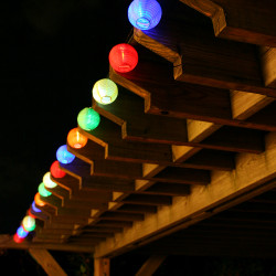 Smart Solar 20 LED Solar Chinese Lantern String Lights