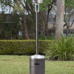 Mocha and Stainless Steel Commercial Patio Heater