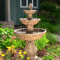 Classic Decorative 3-Tier Fountain by Sunnydaze Decor